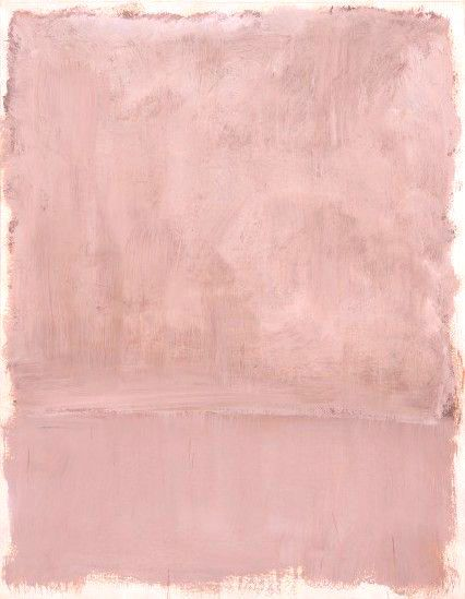 PINK ART - Mark Rothko was even thinking about this hue in 1953, with his