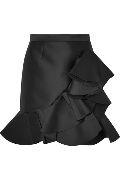 STELLA MCCARTNEY Ruffled satin mini skirt.jpg