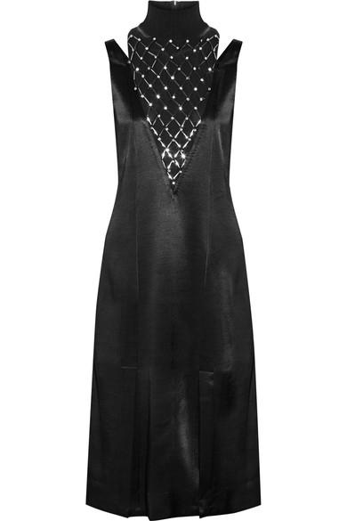BY MALENE BIRGER Leosa embellished chiffon-paneled satin midi dress.jpg