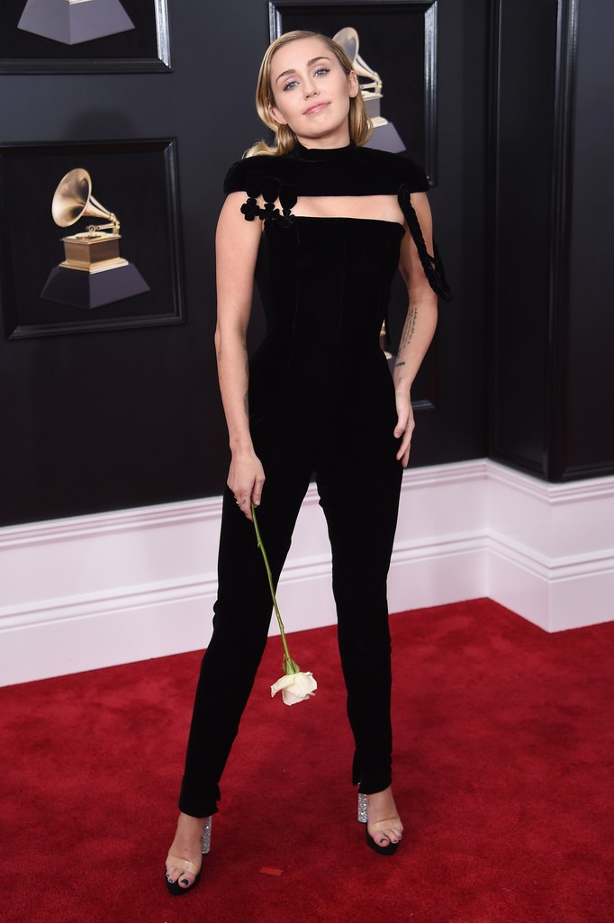 Miley Cyrus  - in Jean Paul GaultierSuch a sleek and cool silhouette for this babe--she can't go wrong in our book.