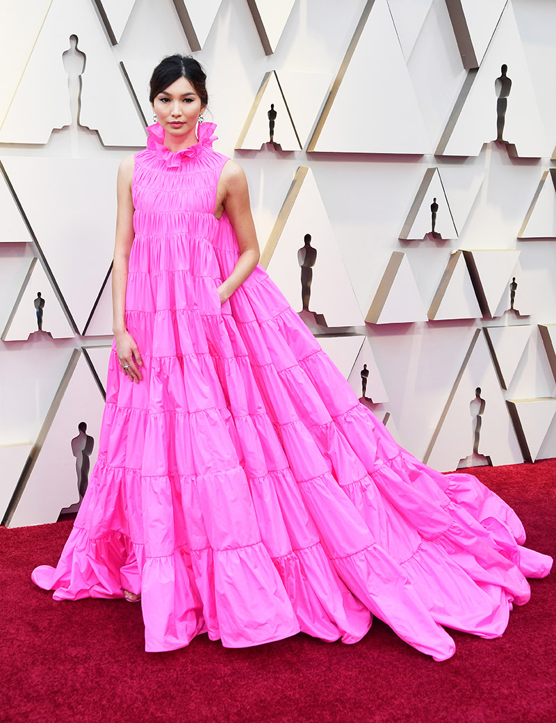 Gemma Chan - in Valentino Couture and Bulgari jewelry
