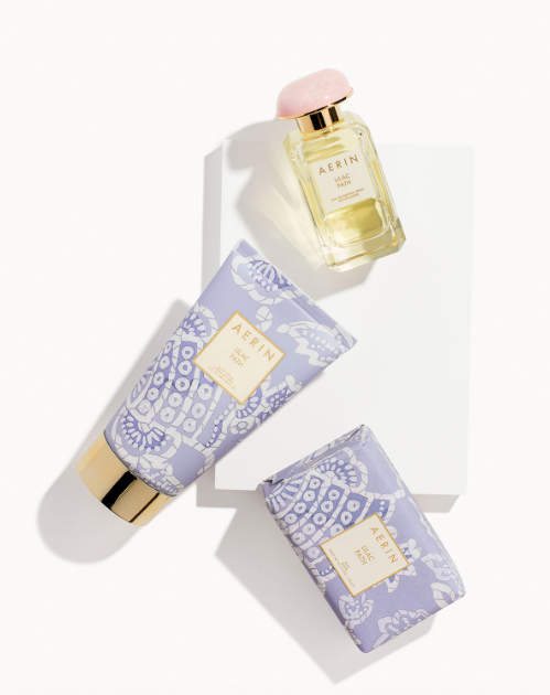Scents of Spring - Aerin's Lilac Path perfume and body cream captures the spirit of Spring and makes it last!