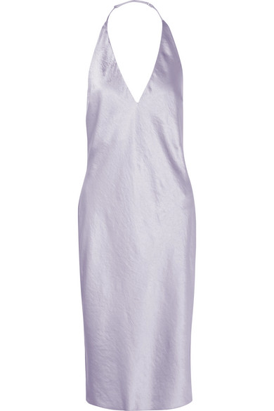 Effortlessly Cool - Alexander Wang's Crinkled-satin halterneck dress is the ultimate summer look with whatever you style it with—you just can't go wrong!