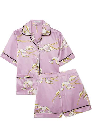 OliviaVonHalleMillicent printed silk-satin pajama set.jpg