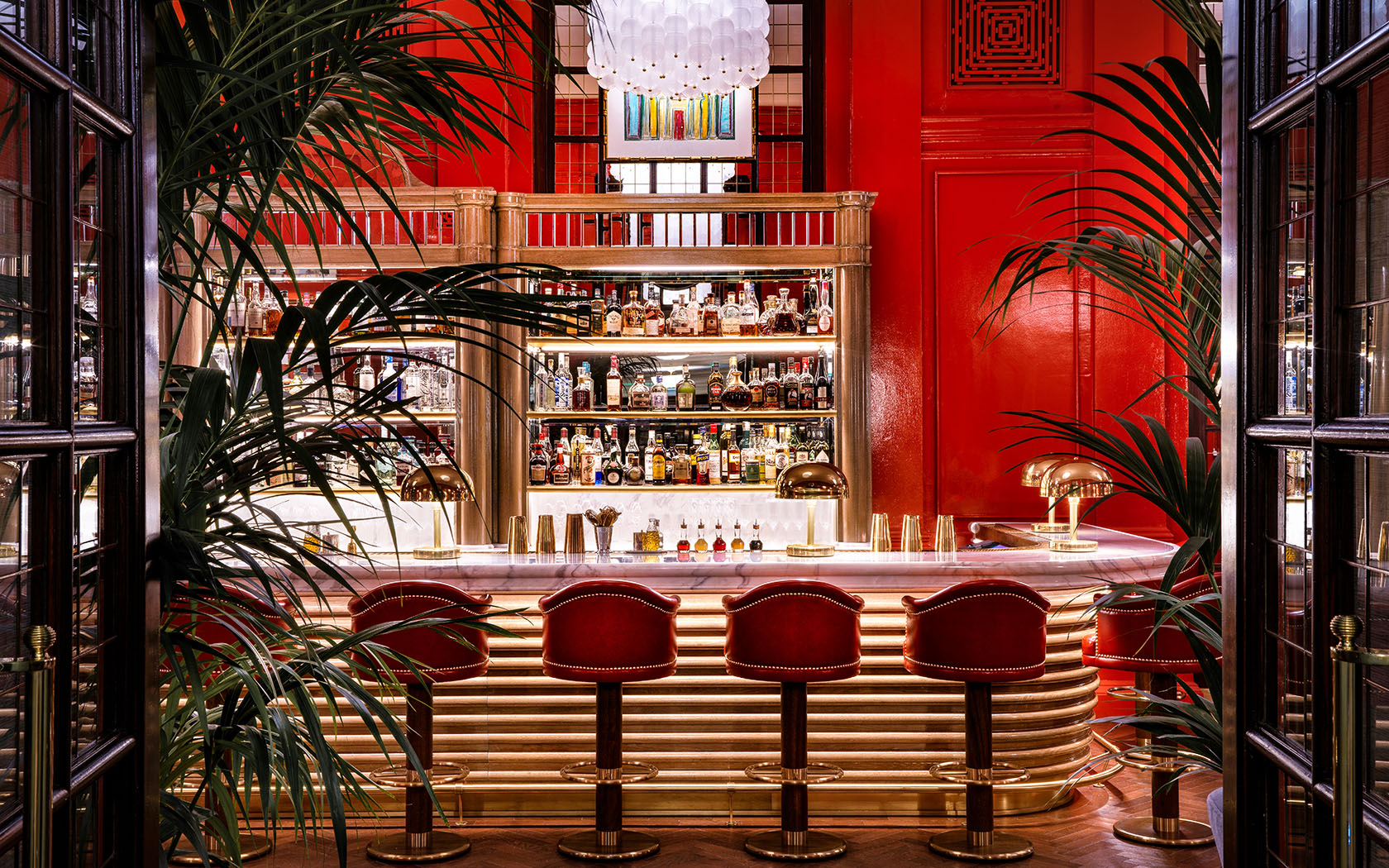 The Coral Room - 16-22 Great Russell StreetA Coral coloured bar in the heart of Bloomsbury designed by acclaimed Martin Brudnizki. Open from 10am daily for coffee, lunch, cocktails and English sparkling wine! An interior straight out of a Wes Anderson movie! #PaintTheTownCoral