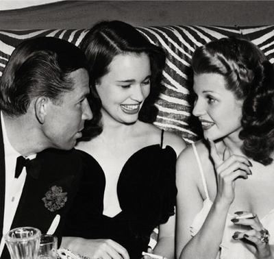 1941 - Bruce Cabot, Gloria Vanderbilt, and Rita Hayworth at the El Morocco Night Club