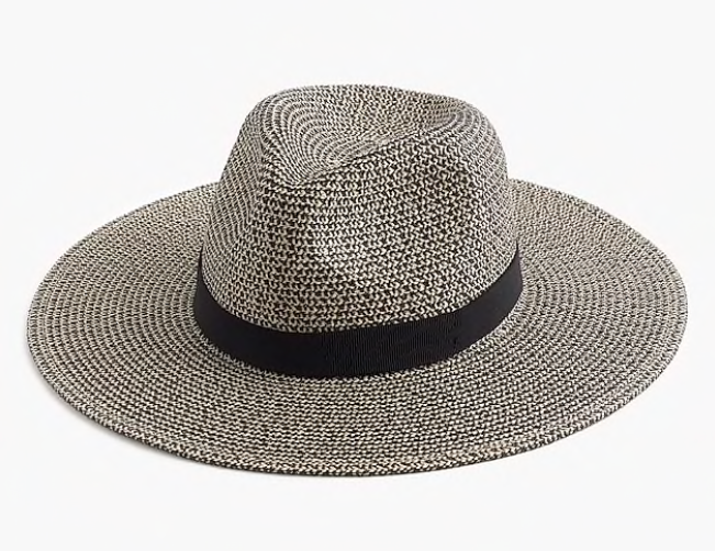 Marled Wide Brim Hat - Resilient paper straw hat