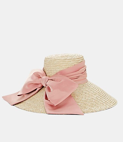 Eugenia Kim - Mirabel Satin-Bow Straw Hat