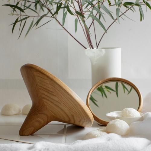 SATELLITE- Table Mirror : natural oak