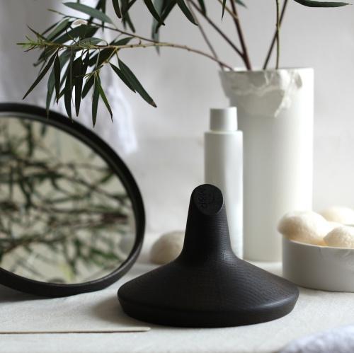 SATELLITE - Hand mirror : smoked oak