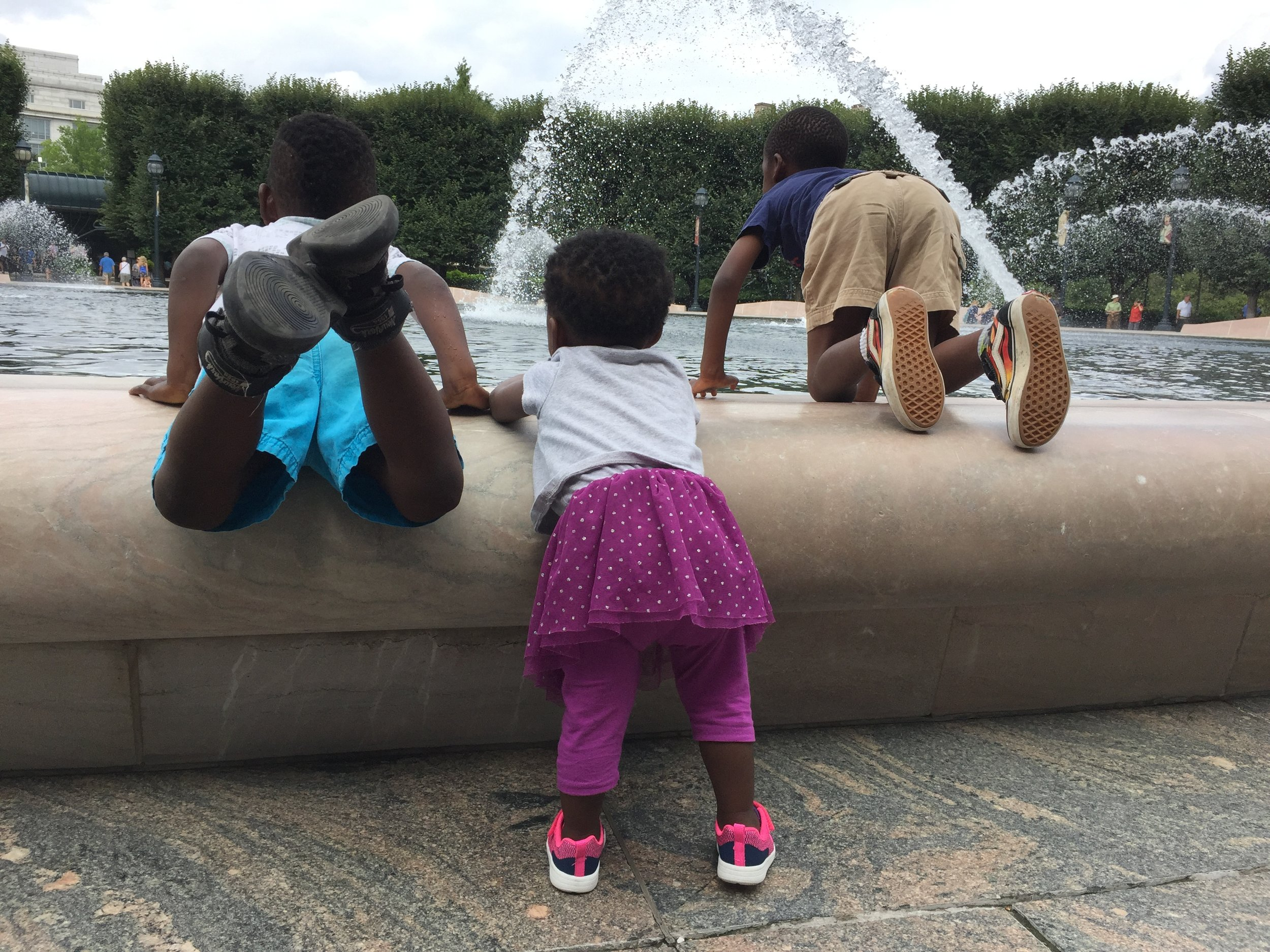 The munchkins at the National Gallery of Art Sculpture Garden, Washington, DC