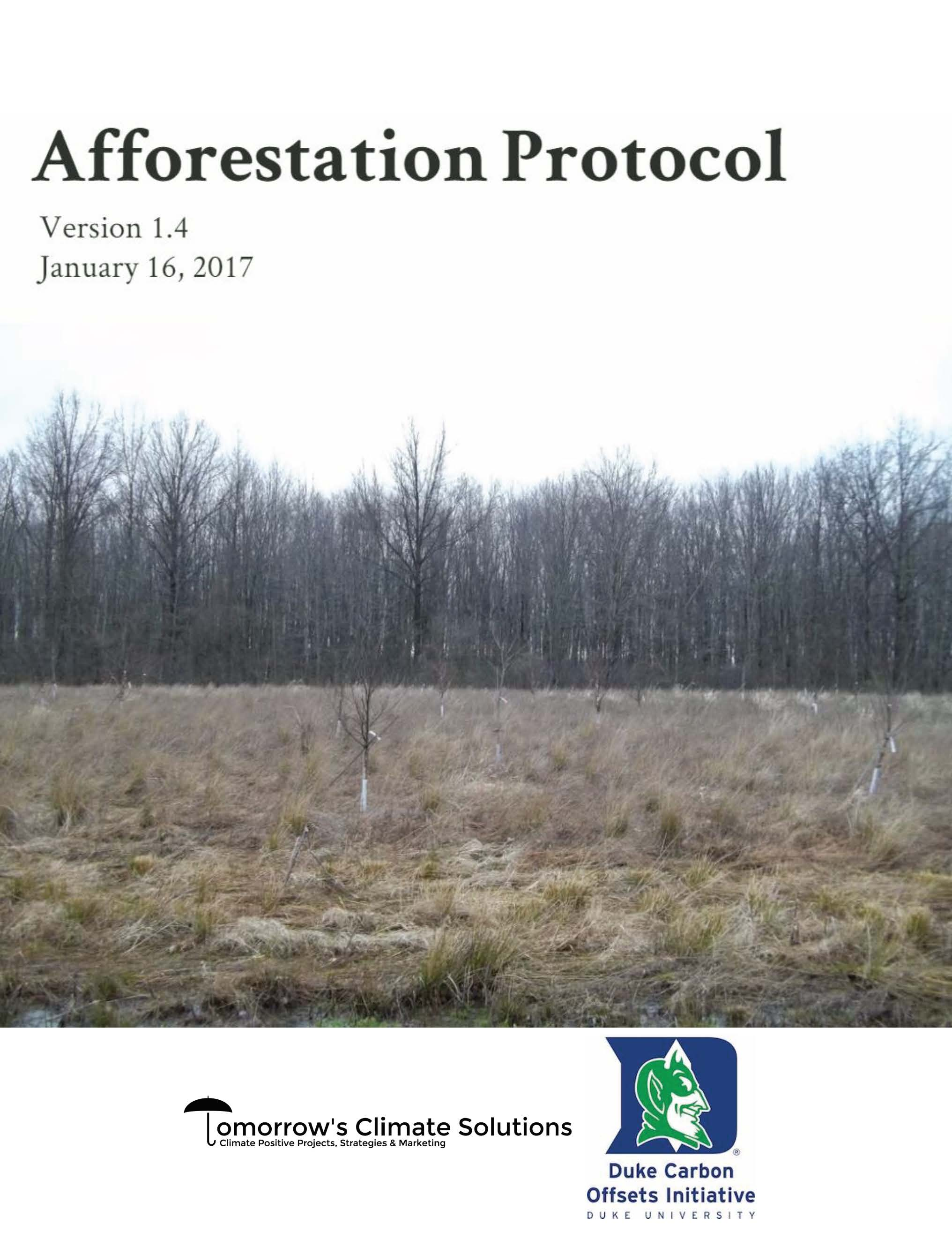 Afforestation Protocol