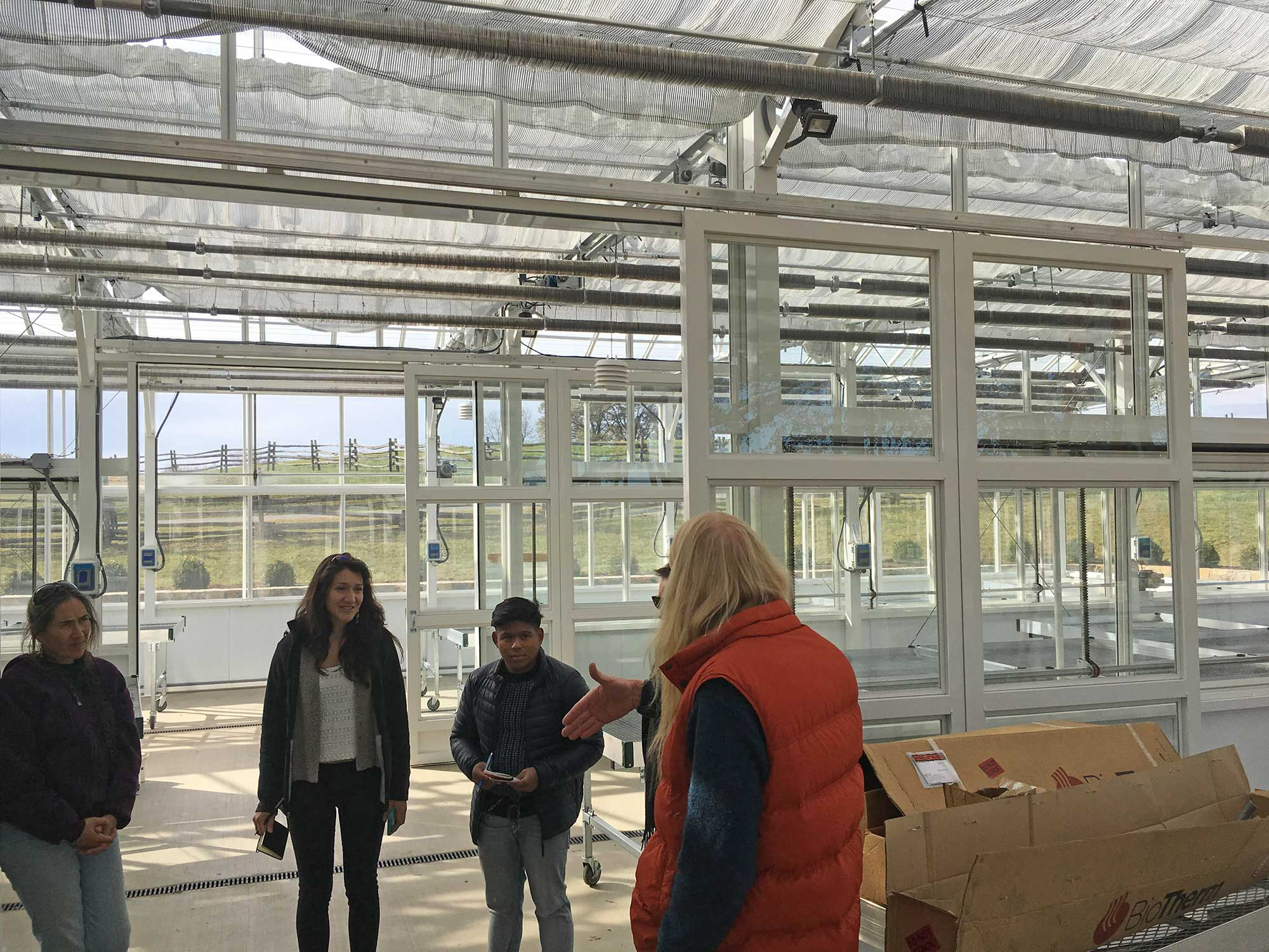 OSGF's first horticultural interns get a taste of our new greenhouses.In April 2017, the interns will begin a 6-month-long program during which they will put their studies to practice using our grounds and facilities.