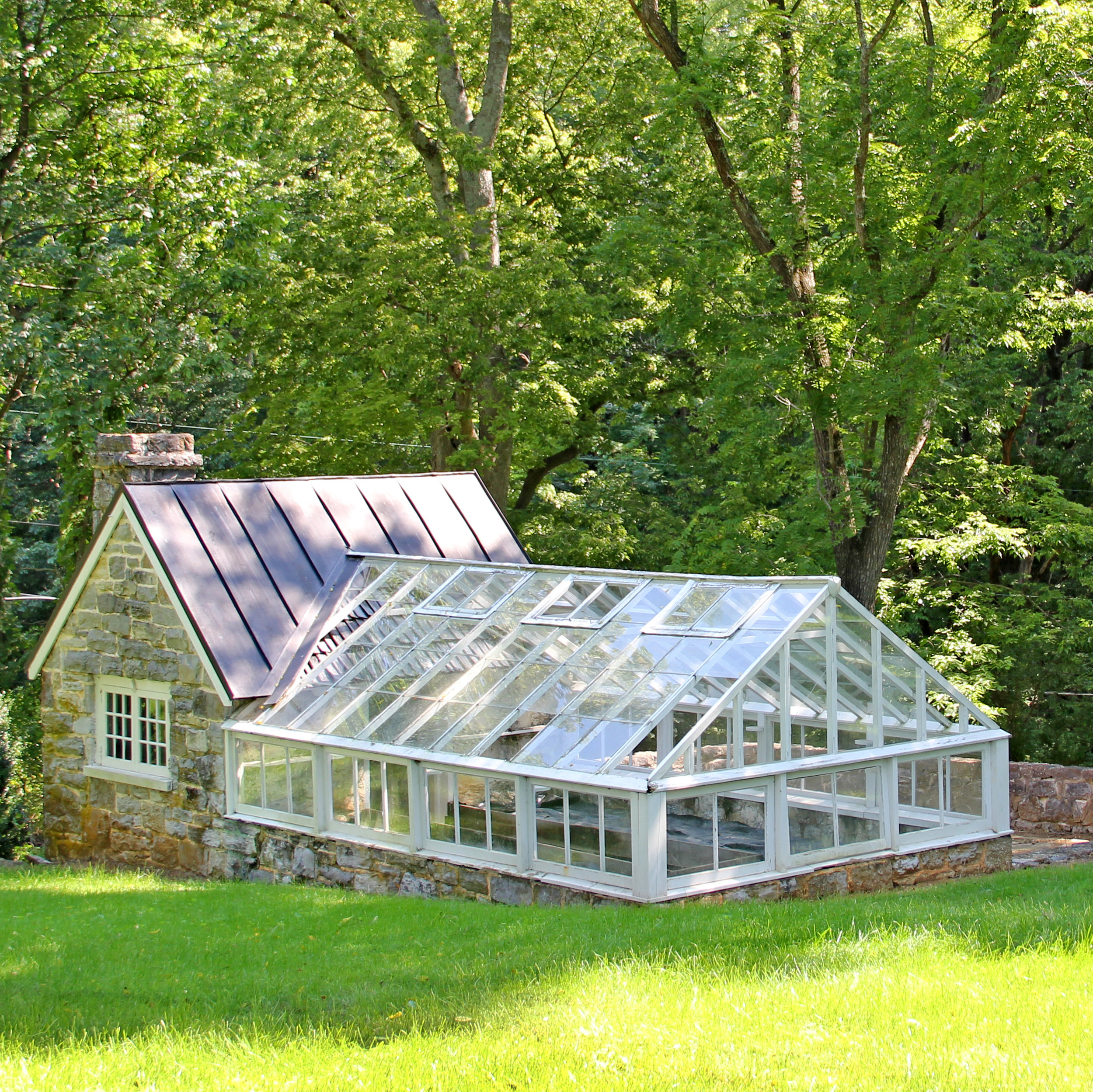 Bunny Mellon's greenhouse at Carter Hall in Millwood, Virginia.