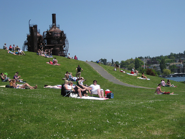 Image of Gas Works Park by Flickr user  Wildcat Dunny