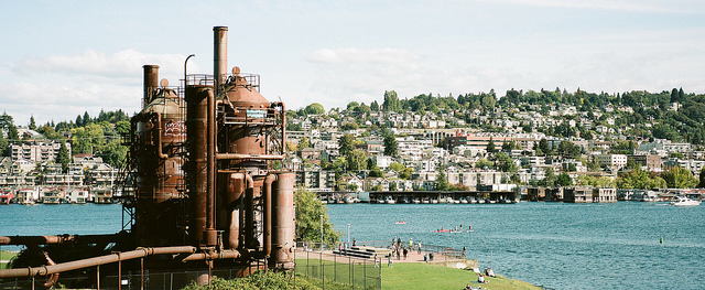 Image of Gas Works Park by Flickr user  Travis Estell