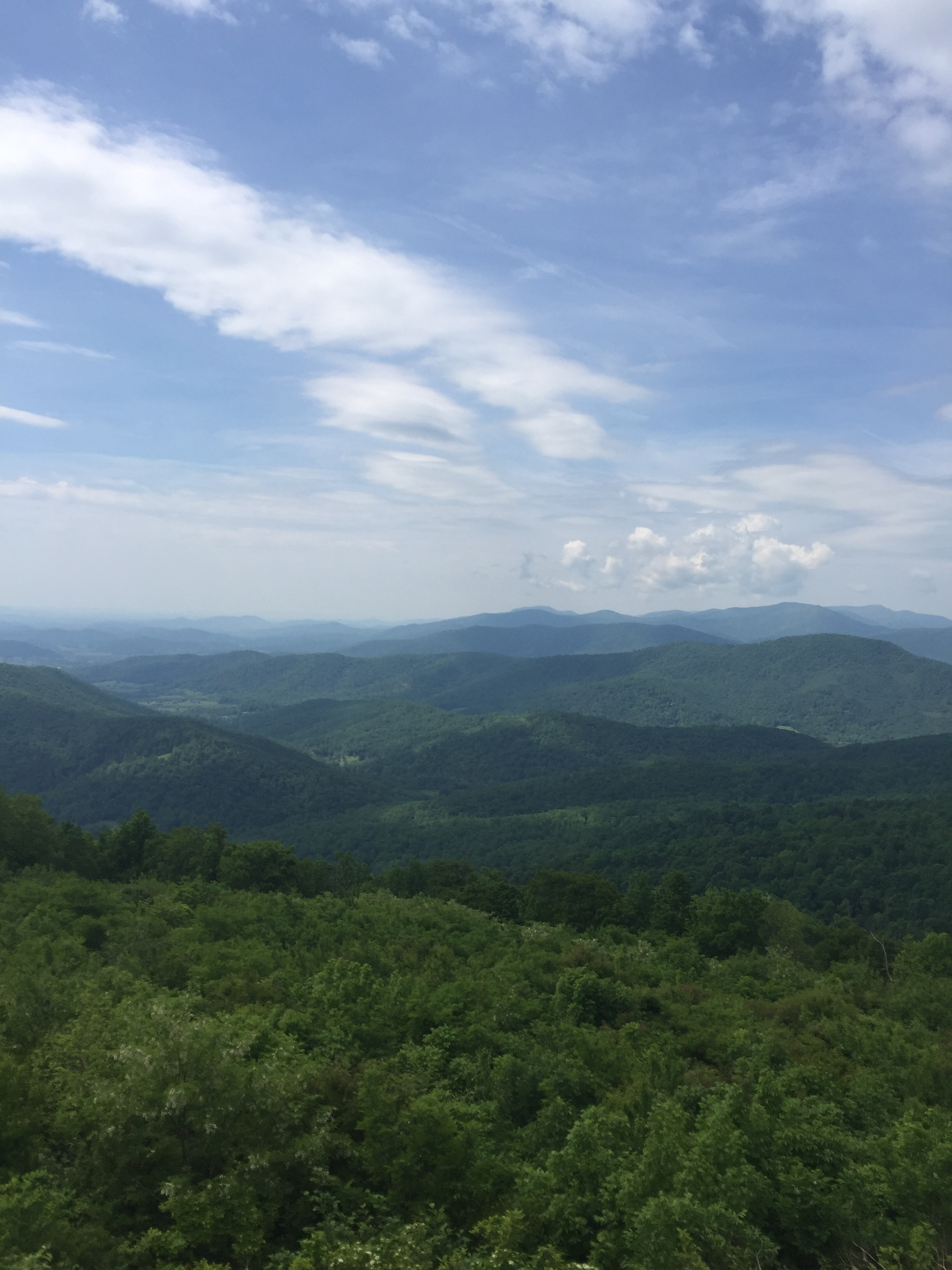 View of the Appalachian Mountains at Shenandoah National Park, about 25 miles from Oak Spring.