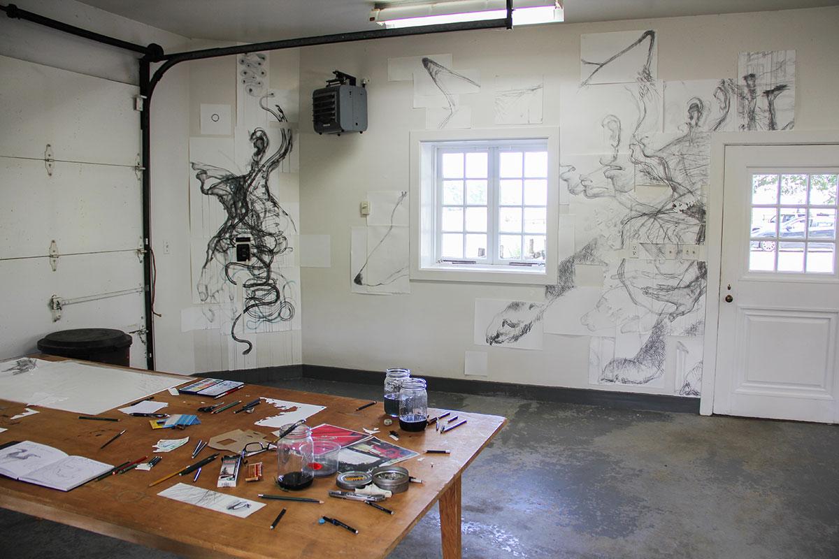 Studio space at the Oak Spring Garden Foundation