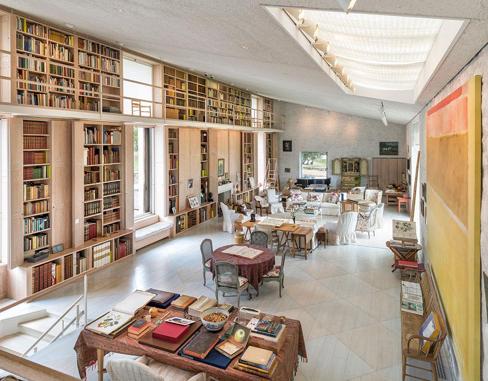 Oak Spring Garden Library Interior
