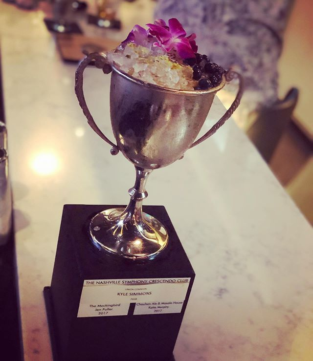 "Our 2018 winner, @unioncommon, made good use of the #SpiritsofSummer trophy before giving it back for this weekend's competition. They filled it up with their winning cocktail ""Love Is A Battlefield""!"