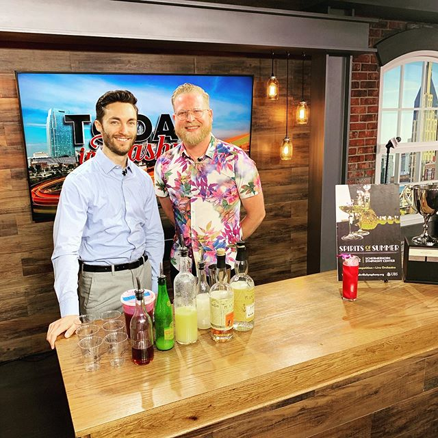 Our friends @enricolopezyanez and Ben Franks, the bar manager at @unioncommon, were featured on @todayinnashville yesterday morning! They talked about #spiritsofsummer 2019 and made the winning cocktail from last year! Get your tickets today at nashvillesymphony.org!