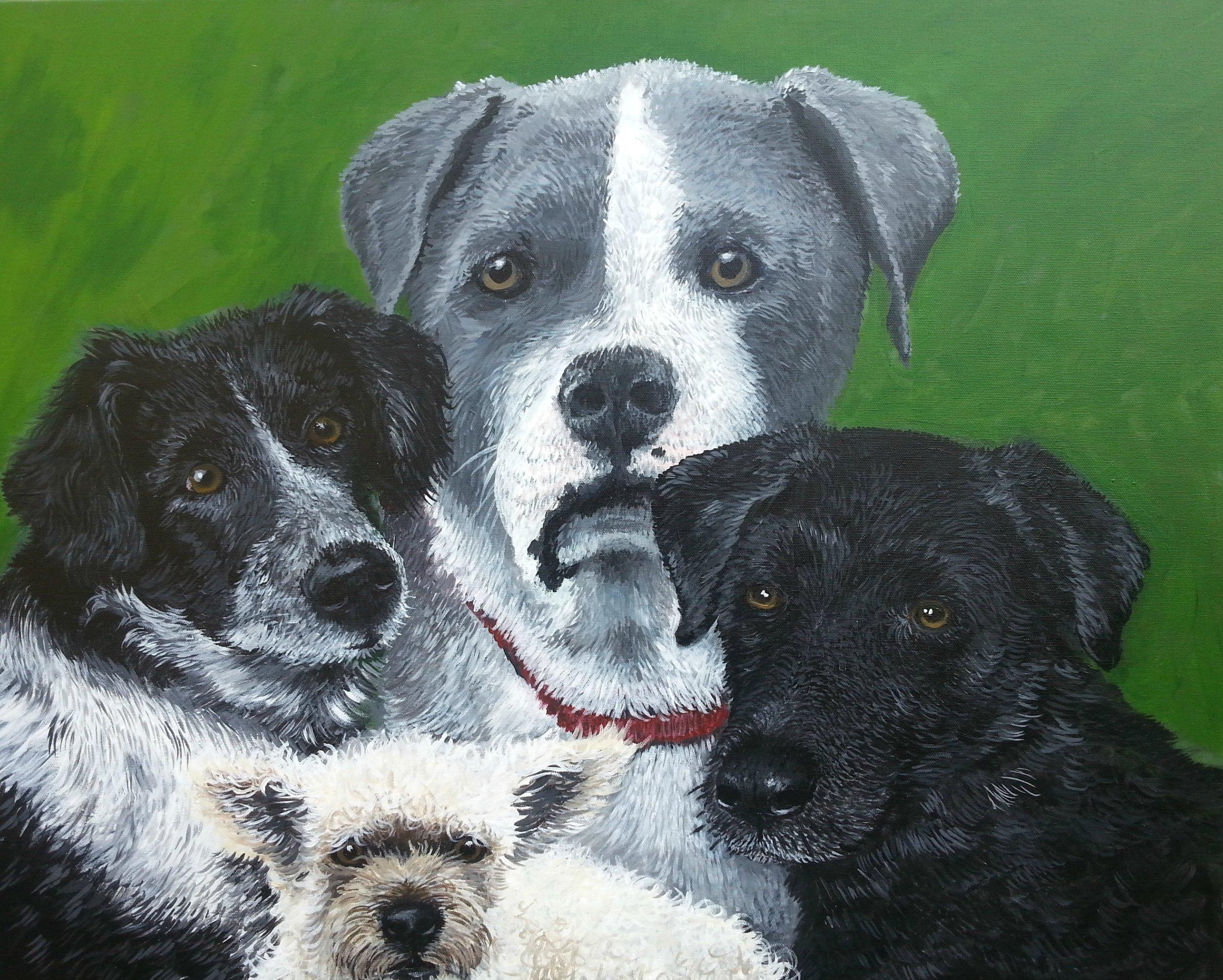 """The Four Horsemen , Acrylic on Canvas, 36""""x48"""""""