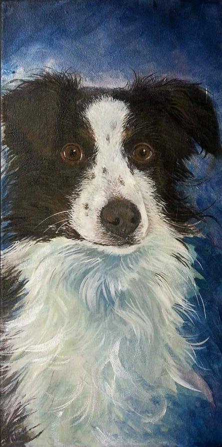 """Aster Bear   , Acrylic on Canvas, 24""""x12"""""""