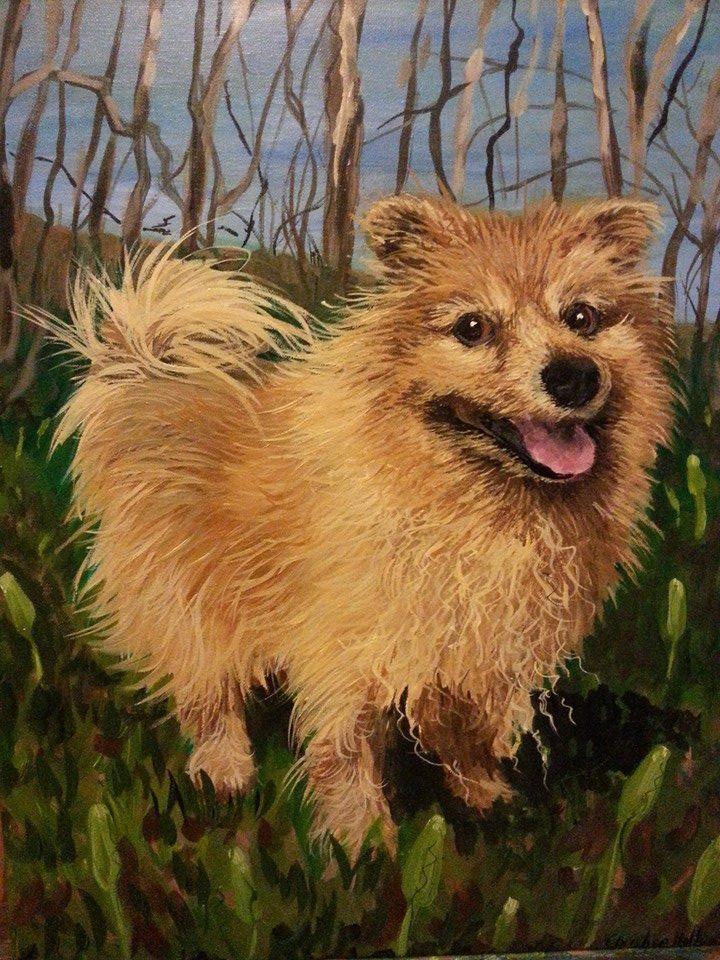 "BeBe  , Acrylic on Canvas, 16""x20"""