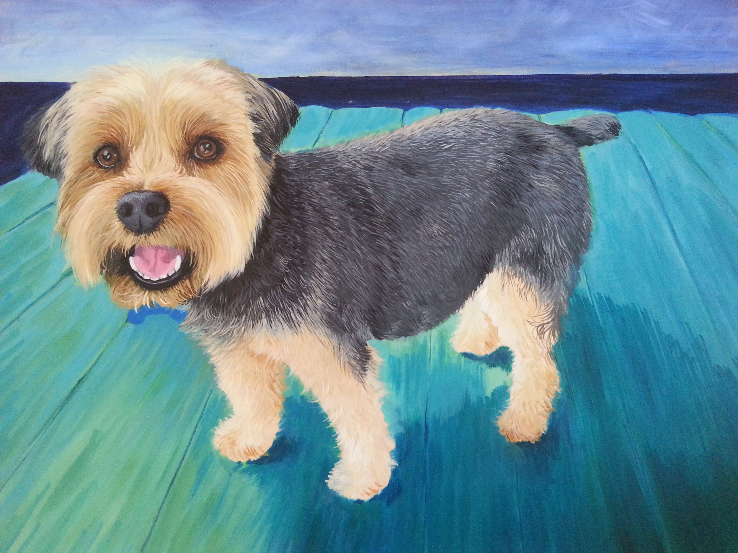 "Brinkley, Acrylic on Canvas, 24""x30"""