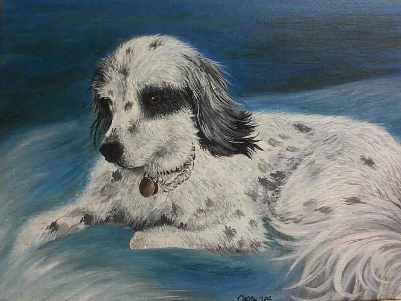 """Danny Girl , Acrylic on Canvas, 16""""x20"""""""