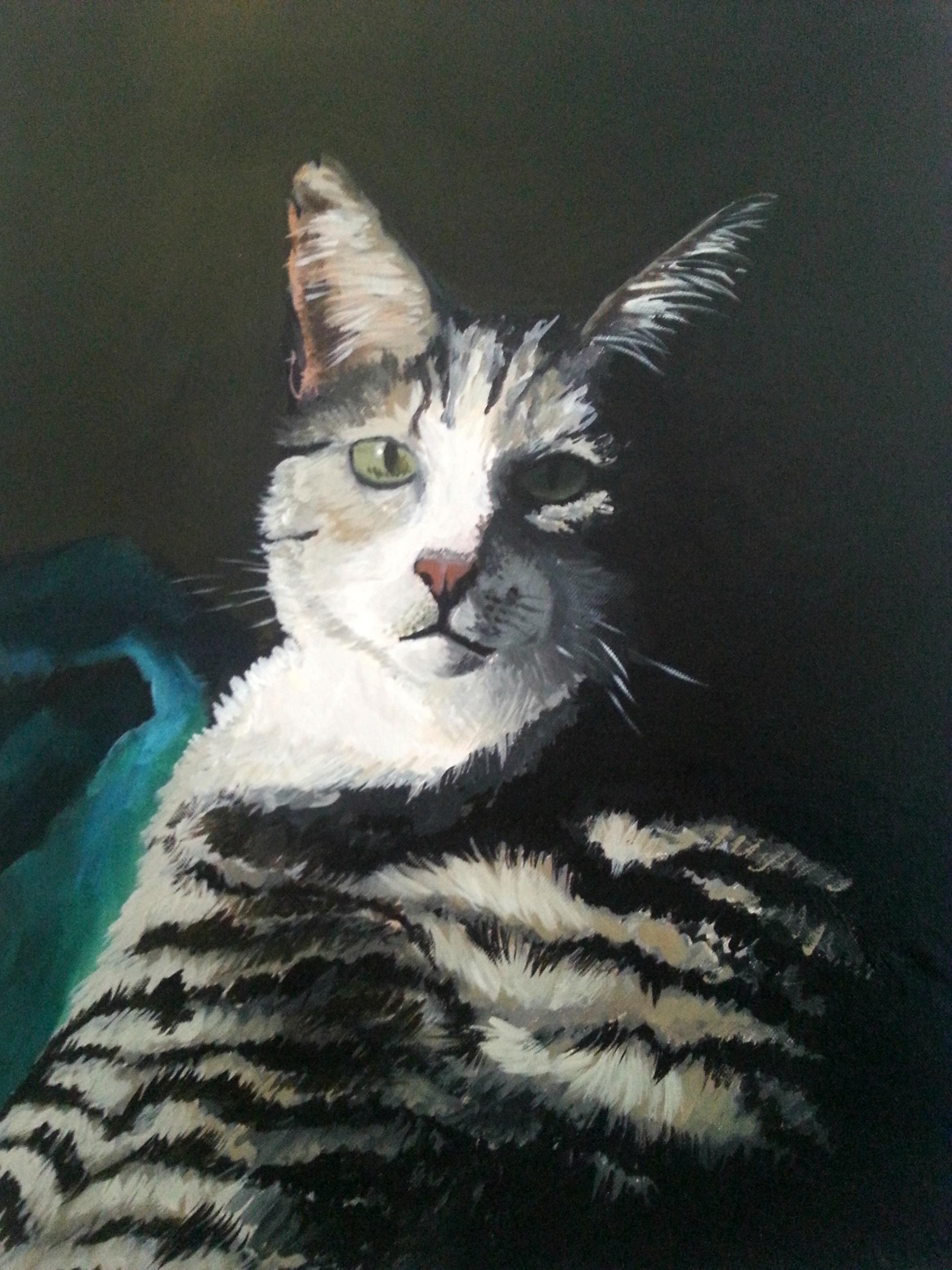 """Frank , Acrylic on canvas, 24""""x18"""""""