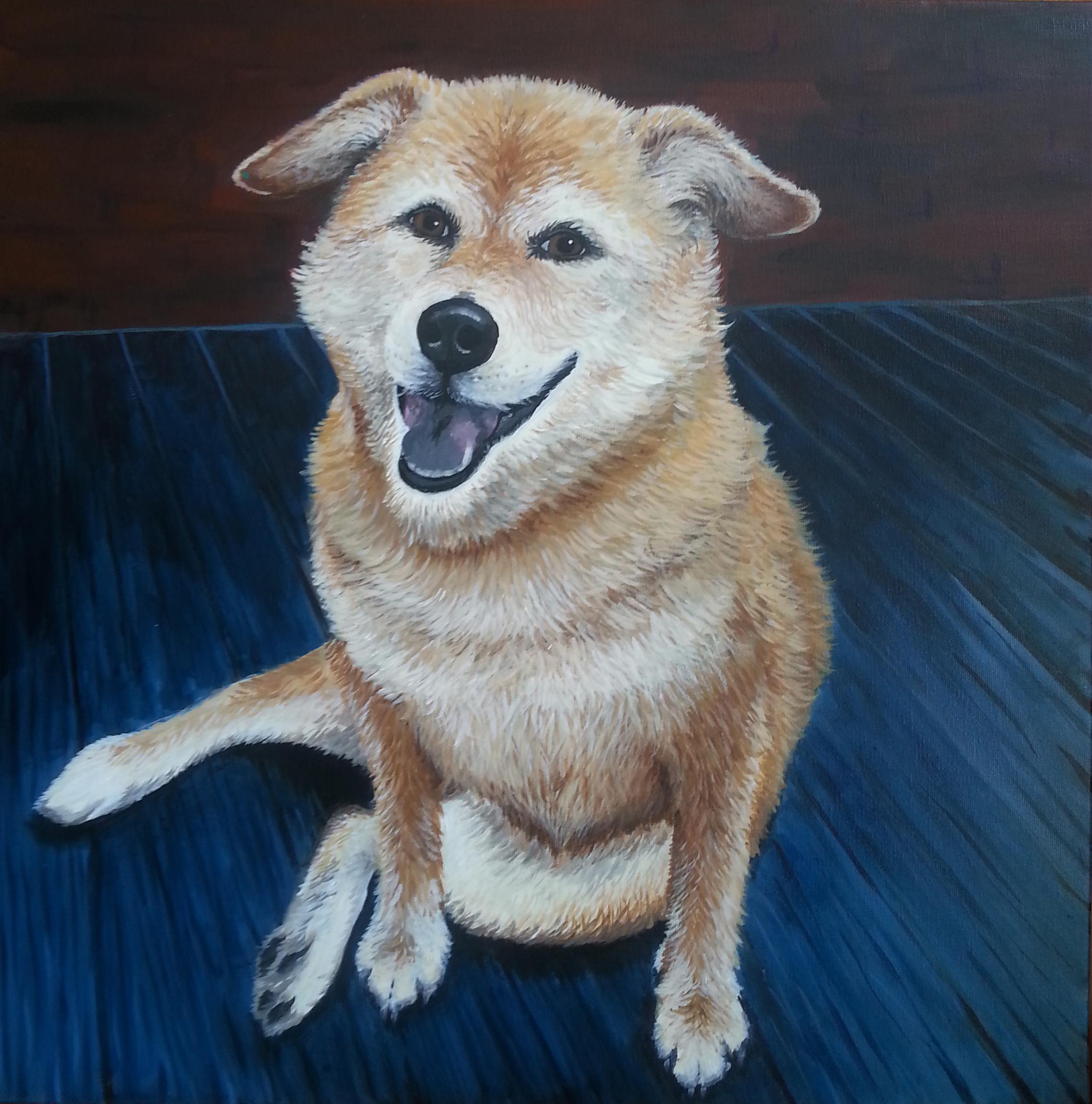 "Lola , Acrylic on Canvas, 24""x24"""