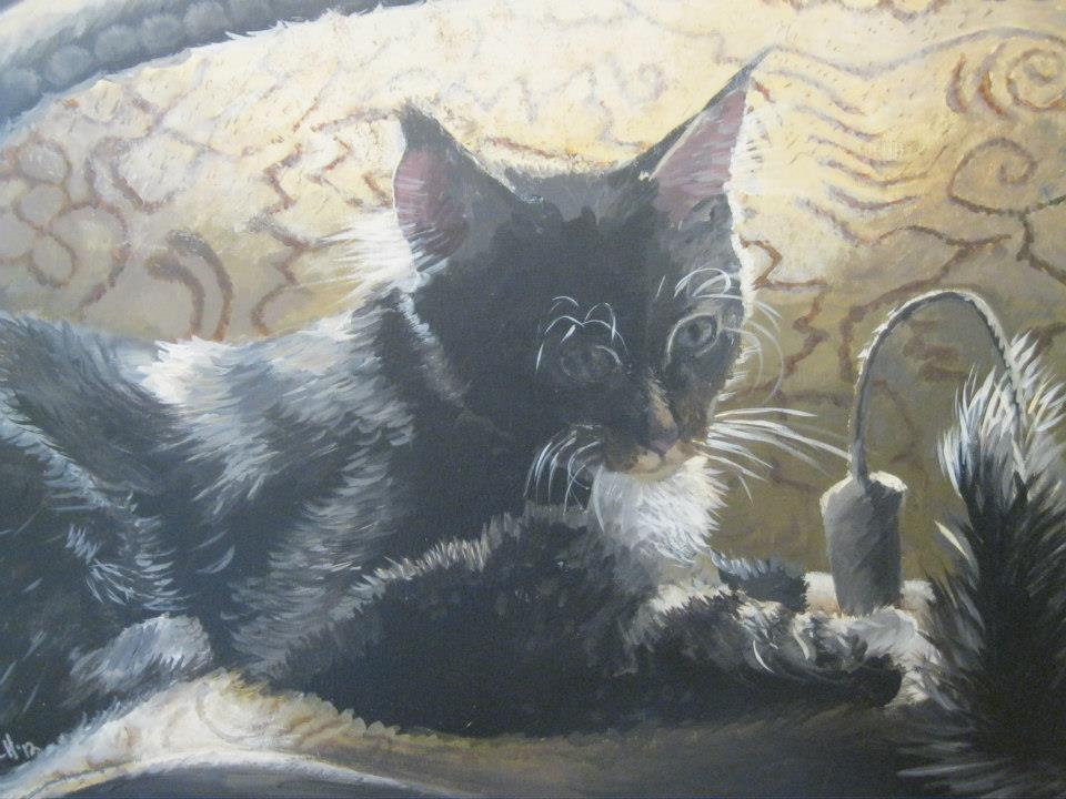 "Sunbather  , Acrylic on Canvas, 18""x24"""