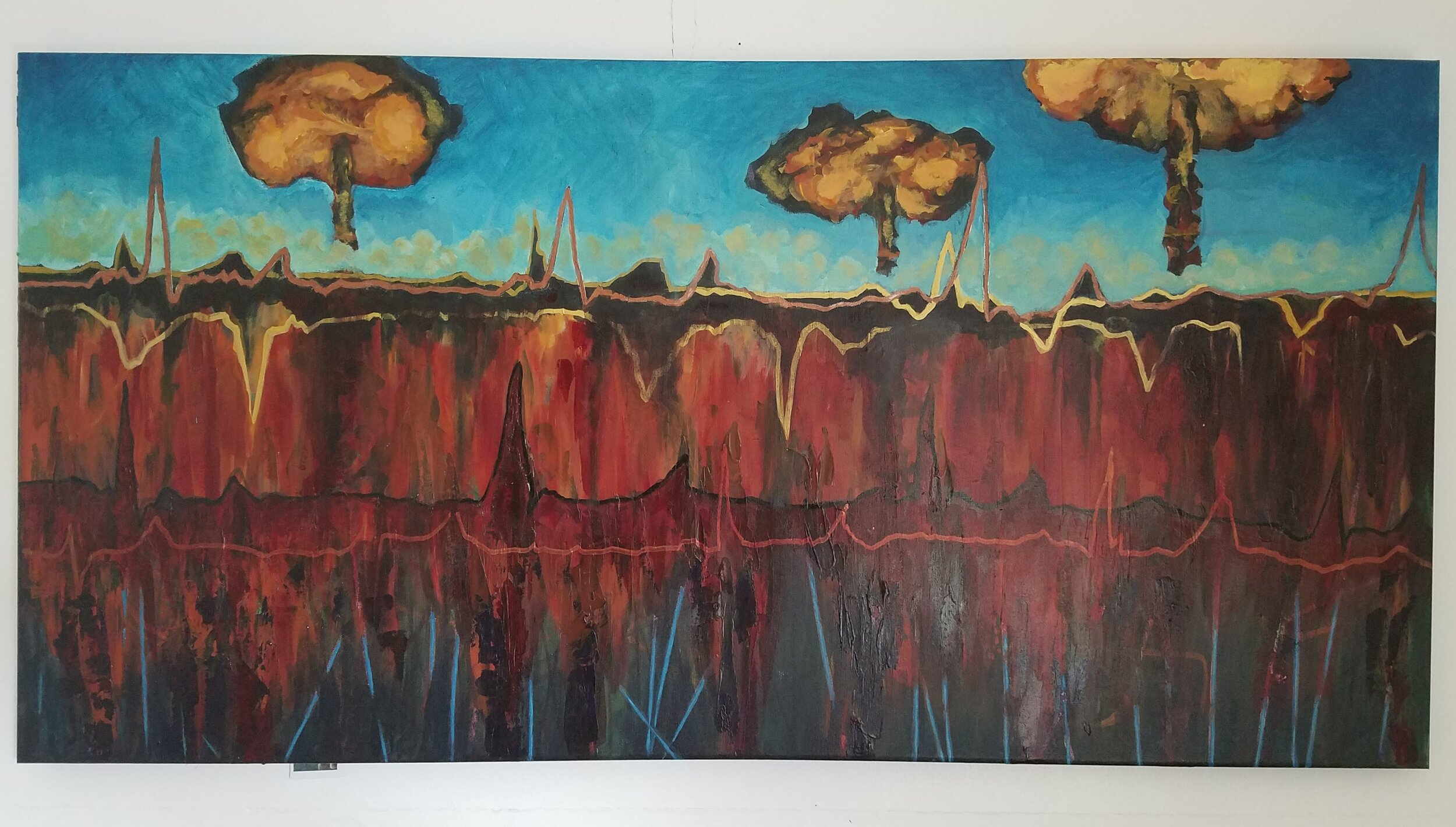 The Trajectory of Fear, 24x48 SOLD