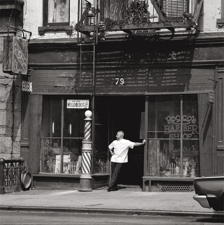 Rocco's Barber Shop c.1989 Photographed by Ray Simone