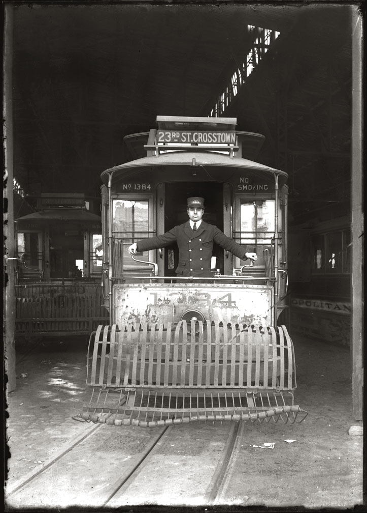 23rd st Trolley c.1910 from original 5x7 glass plate negative