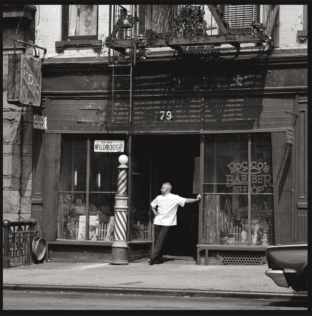 Rocco's Barber Shop c.1989 by Ray Simone from 6x7 negative
