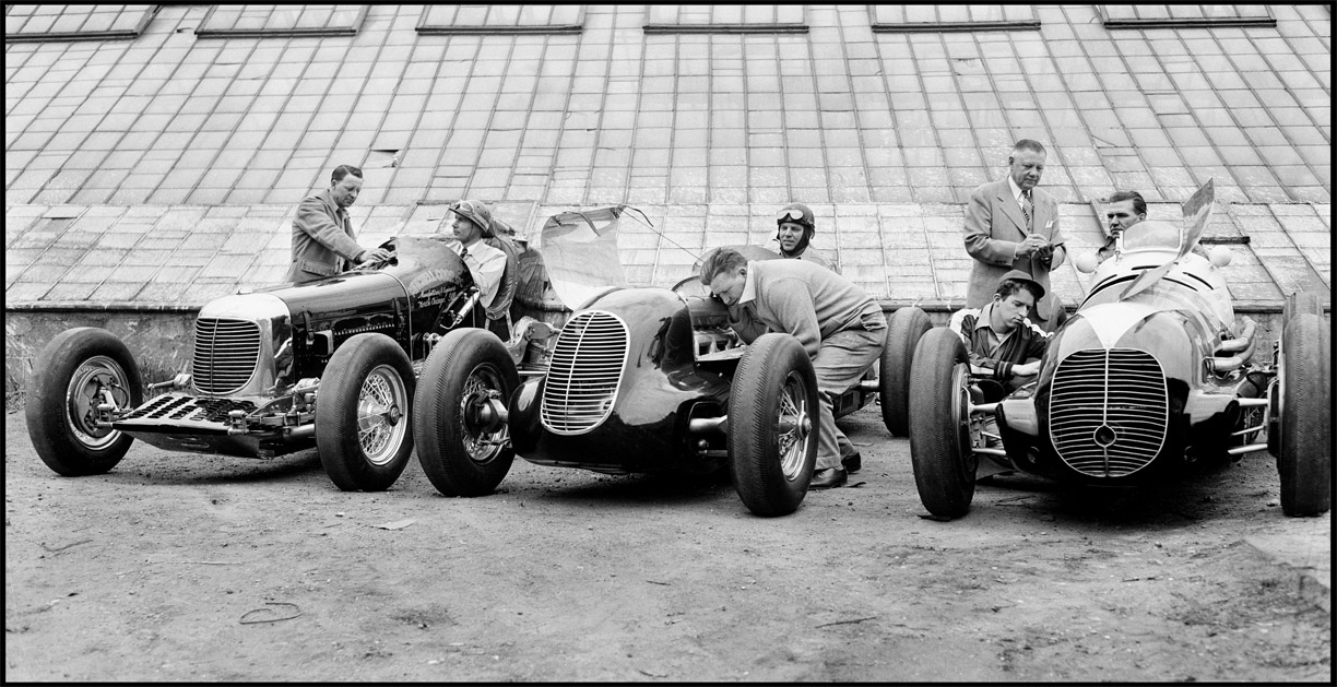 Race Cars c.1935 from original 4x5 negative