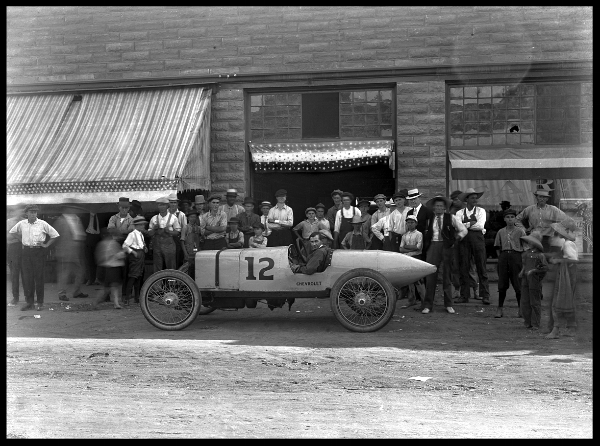 Early Chevy Chevrolet Race car c.1915 from orignal 5x7 glass plate negative