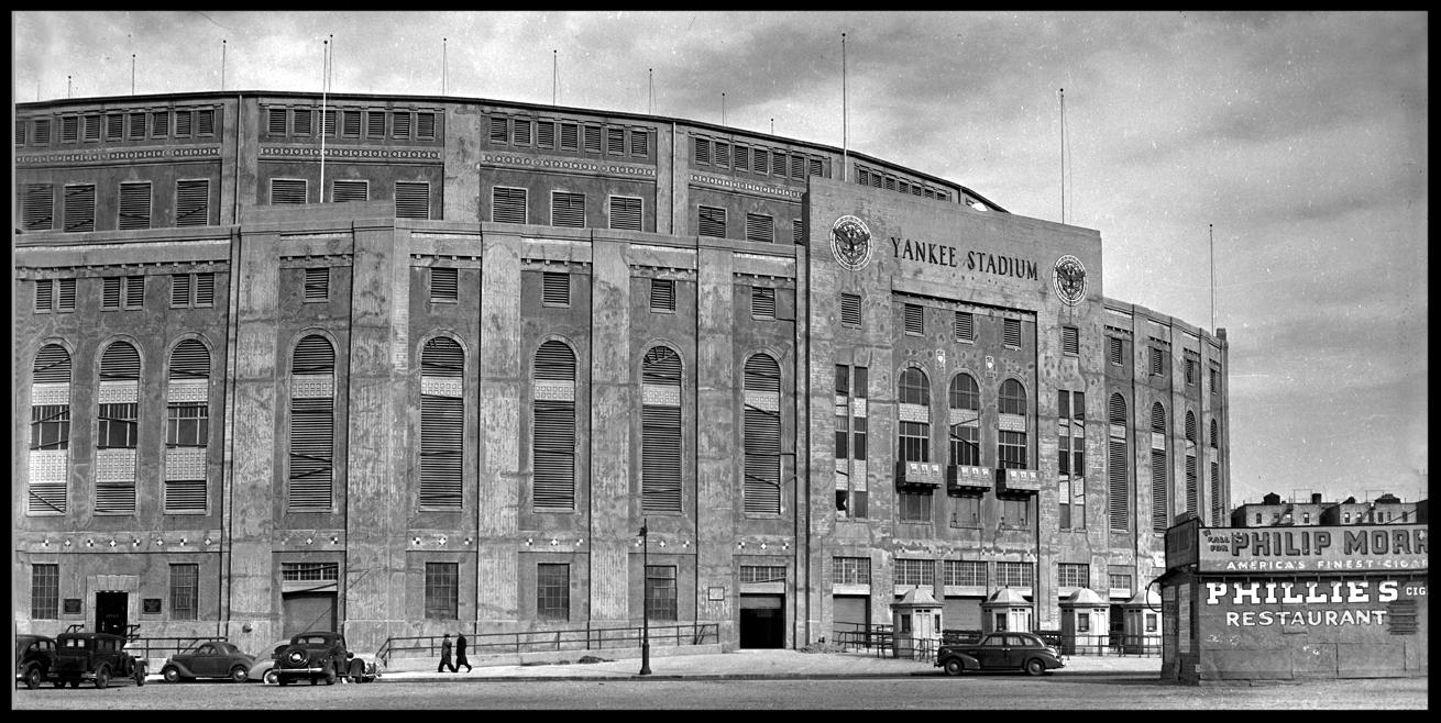 Yankee Stadium c.1935 from original 4x5 negative