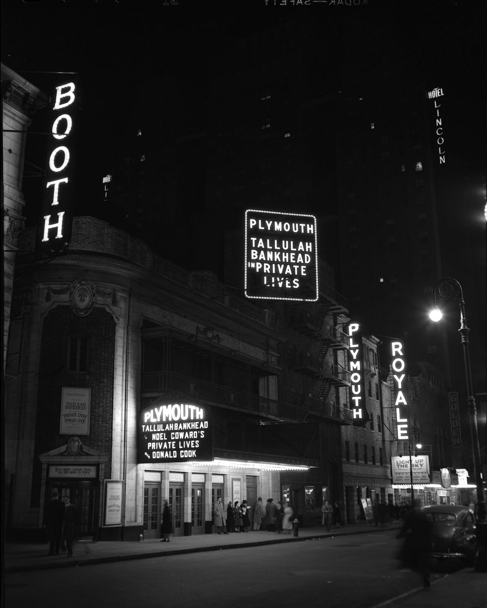 Tallulah Bankhead Plymouth Booth & Royal Theater c.1948 from original 4x5 negative