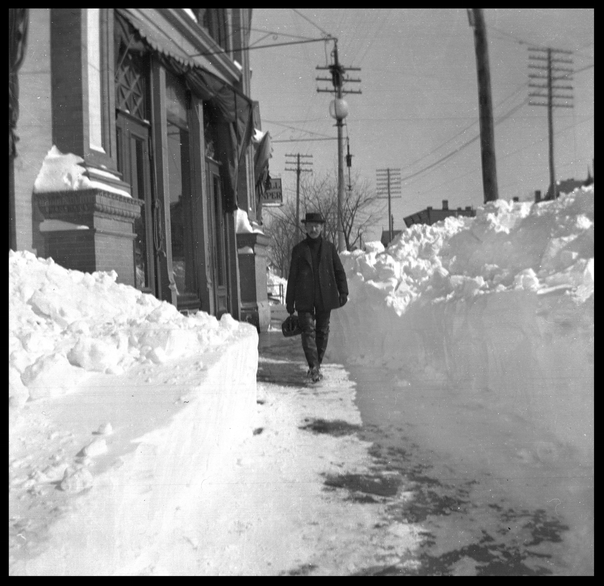 Blizzard of 1899 ( Feb ) from original 4x5 glass plate negative