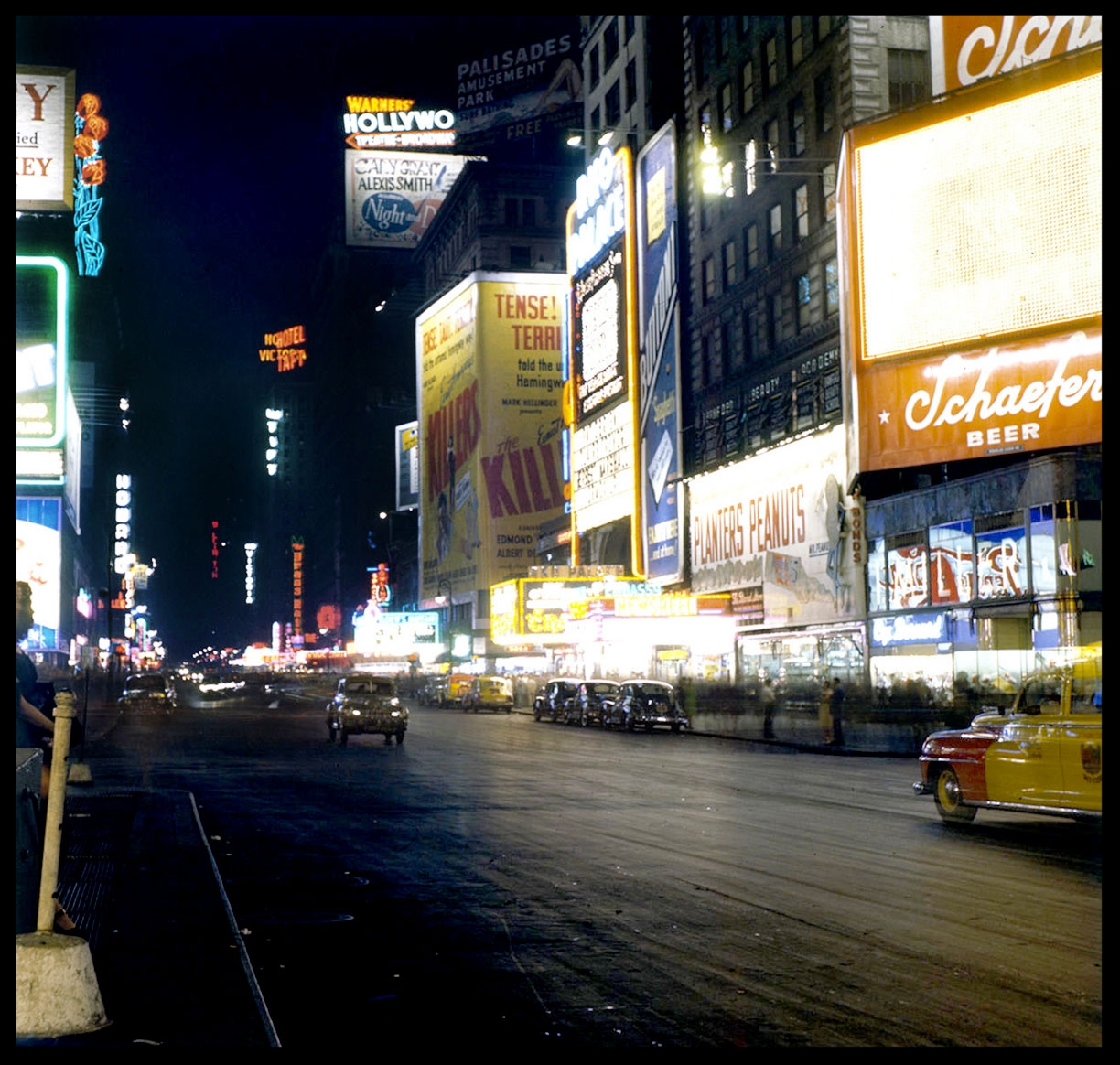 Times Square NYC c.1950 from original 2.25 negative