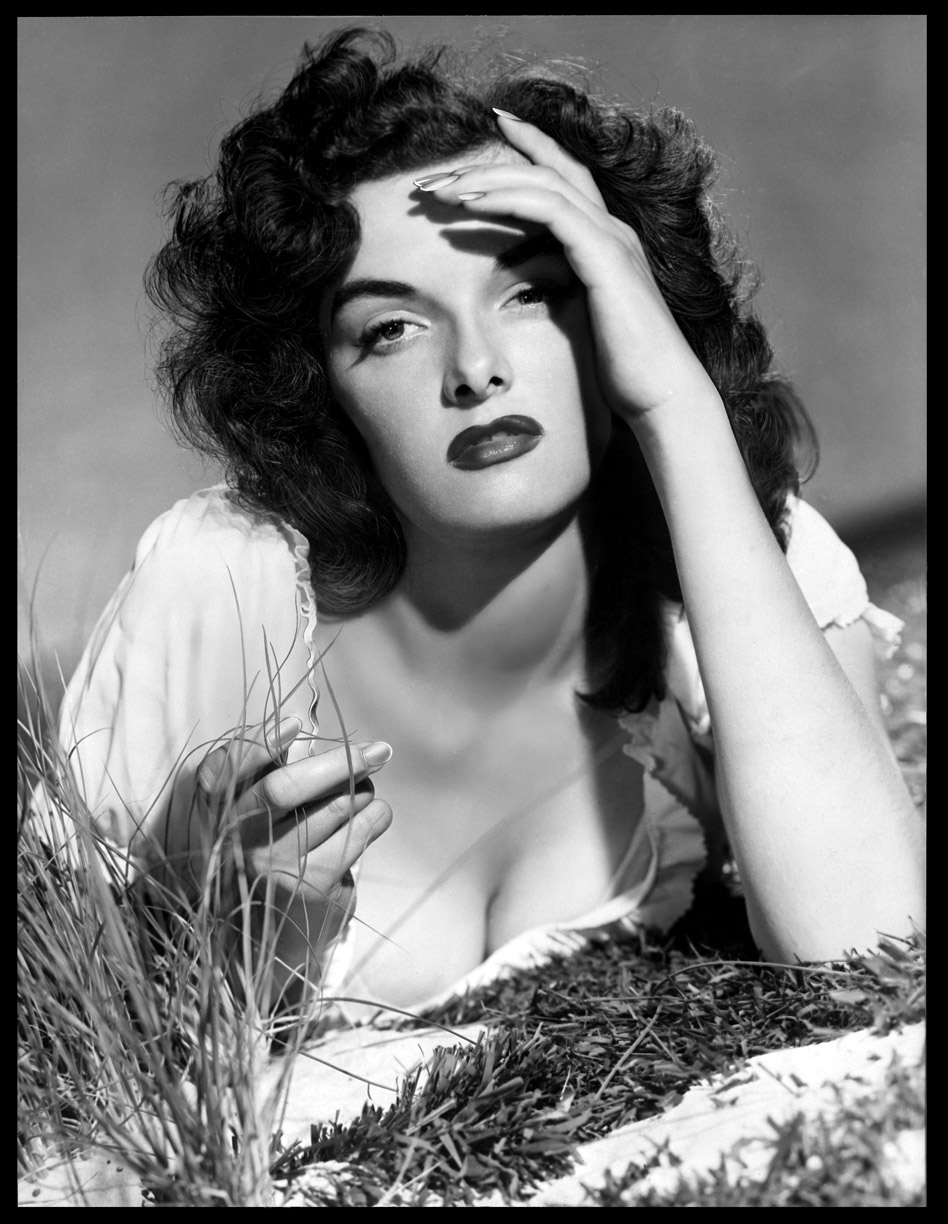 Jane Russell in The Outlaw c.1943 from original retouched studio 8x10 negative
