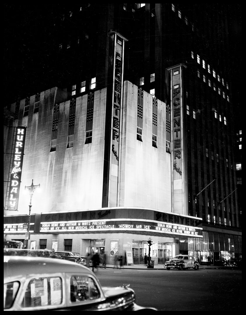 The Center Theater c.1948 from original 4x5 negative