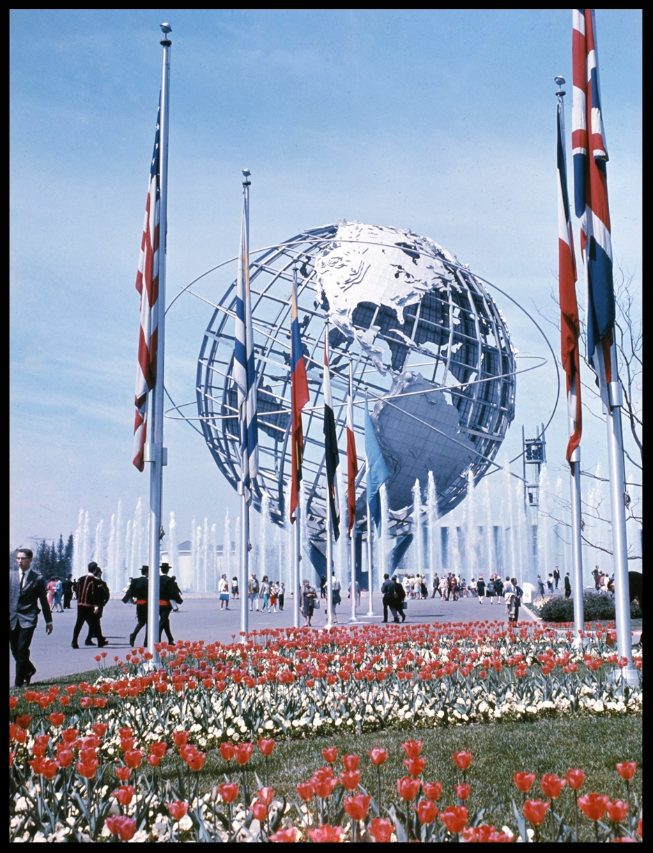 Flushing Meadows Park 1964 Worlds Fair from original 4x5 transparency