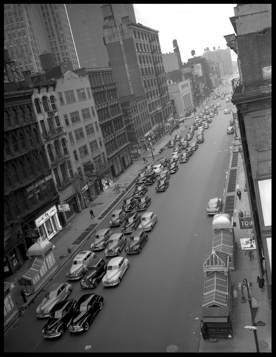 Canal St @ Lafayette St, Chinatown NYC, c.1948 from original 4x5 negative