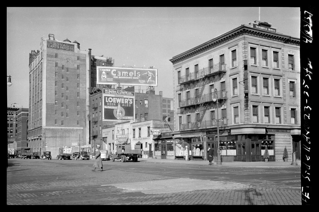 Chelsea NYC 11th Ave at 23rd St c.1937 from the original 4x5 negative