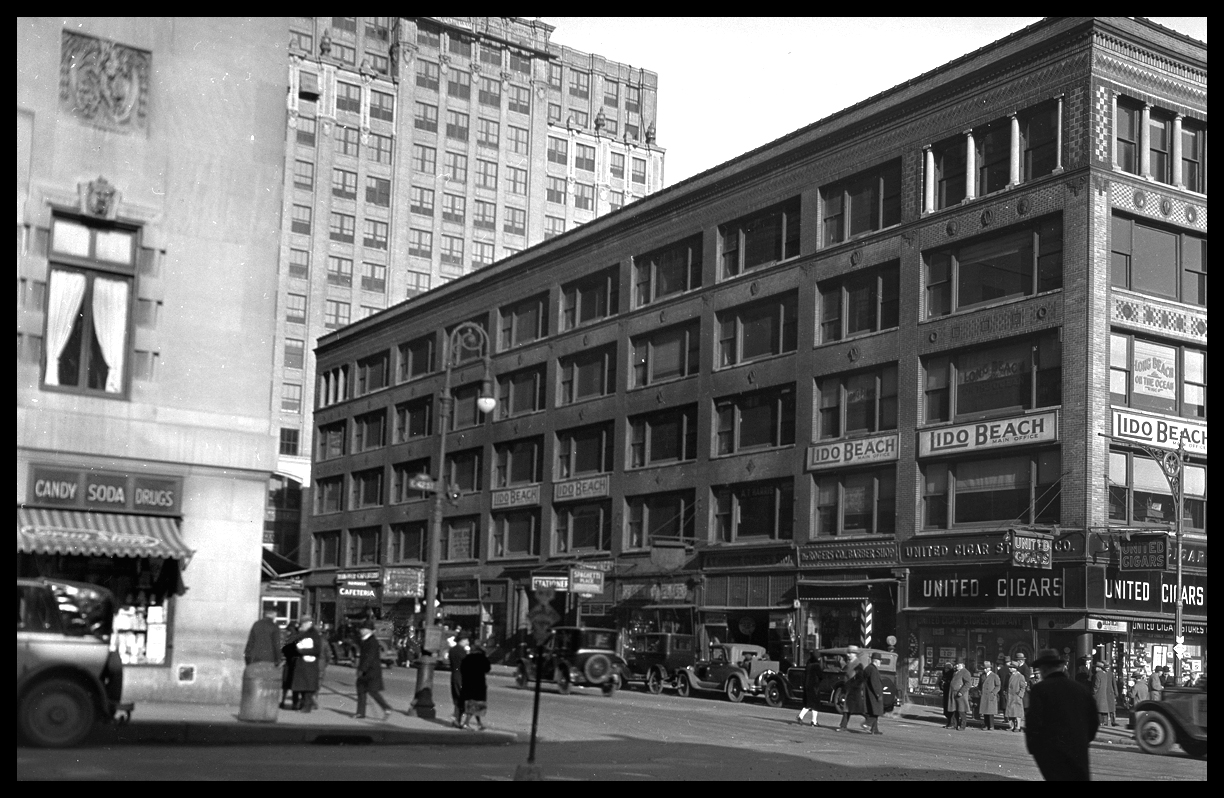 42nd St at Lexington Ave c.1928 from the original 4x5 negative