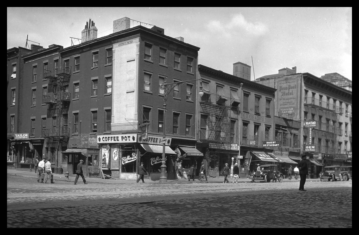 30th St at 8th Ave from original 4x5 negative c.1928